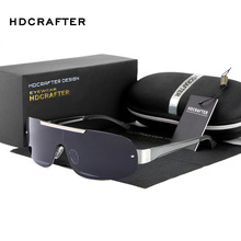 HDCRAFTER Luxury retro fashion Polarized Sunglasses Men rimless sun glasses mens sunglasses designer glasses for men shades E010