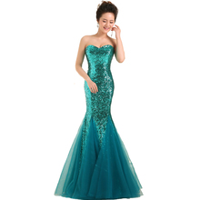 Fabulous Fast Delivery Dark Salmon Purple Long Mermaid Prom Dresses Sweetheart Sequins Party Dress For Women  Gold mermaid Gown