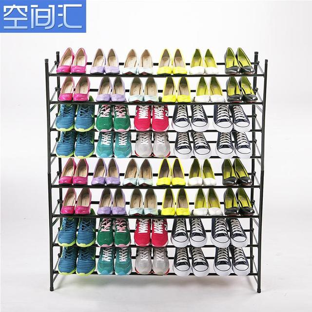 New Special Lengthened Reinforcement Steel Shoe Rack Cabinet Simple Shoes  Paint Retractable Metal Multi Layer