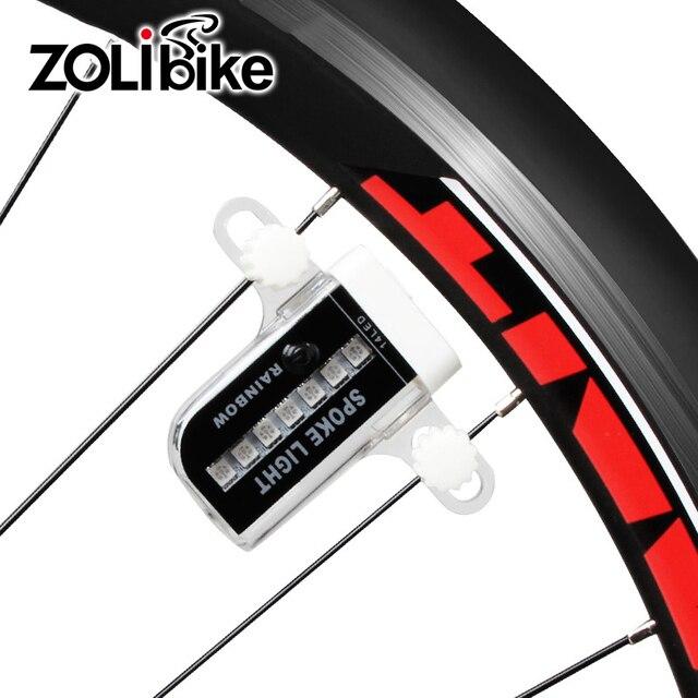 zolibike wiel spaken fiets lichten een fiets fietsen waterdichte verlichting voor fiets batterij usb lading wiel