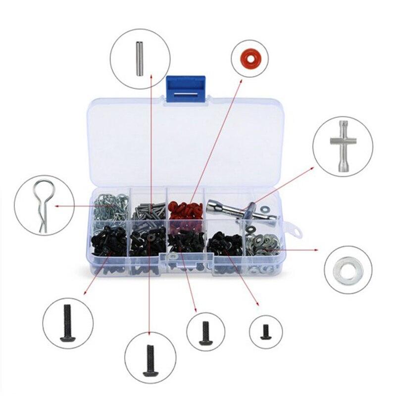 200Pcs/pack Repair Tool Screws Box Set For 1/10 HSP Tamiya HPI SRC10 SCX10 Remote Control RC Car Parts Screws Kit Diy Electronic