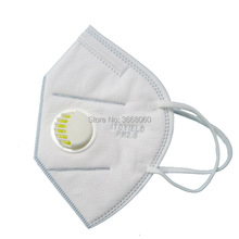 100 PCS High-quality KN95 vertical folding nonwoven valved dust mask PM2.5 disposable respirator mouth with valve