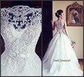 Белый Популярные Бисероплетение Бальное платье Кантри Свадебное Платье В Бразилии vestido