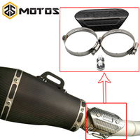 ZS MOTOS Motorcycle Exhaust Muffler Cover Carbon Fiber Color Protector Heat Shield Cover Guard TMAX530 CB400