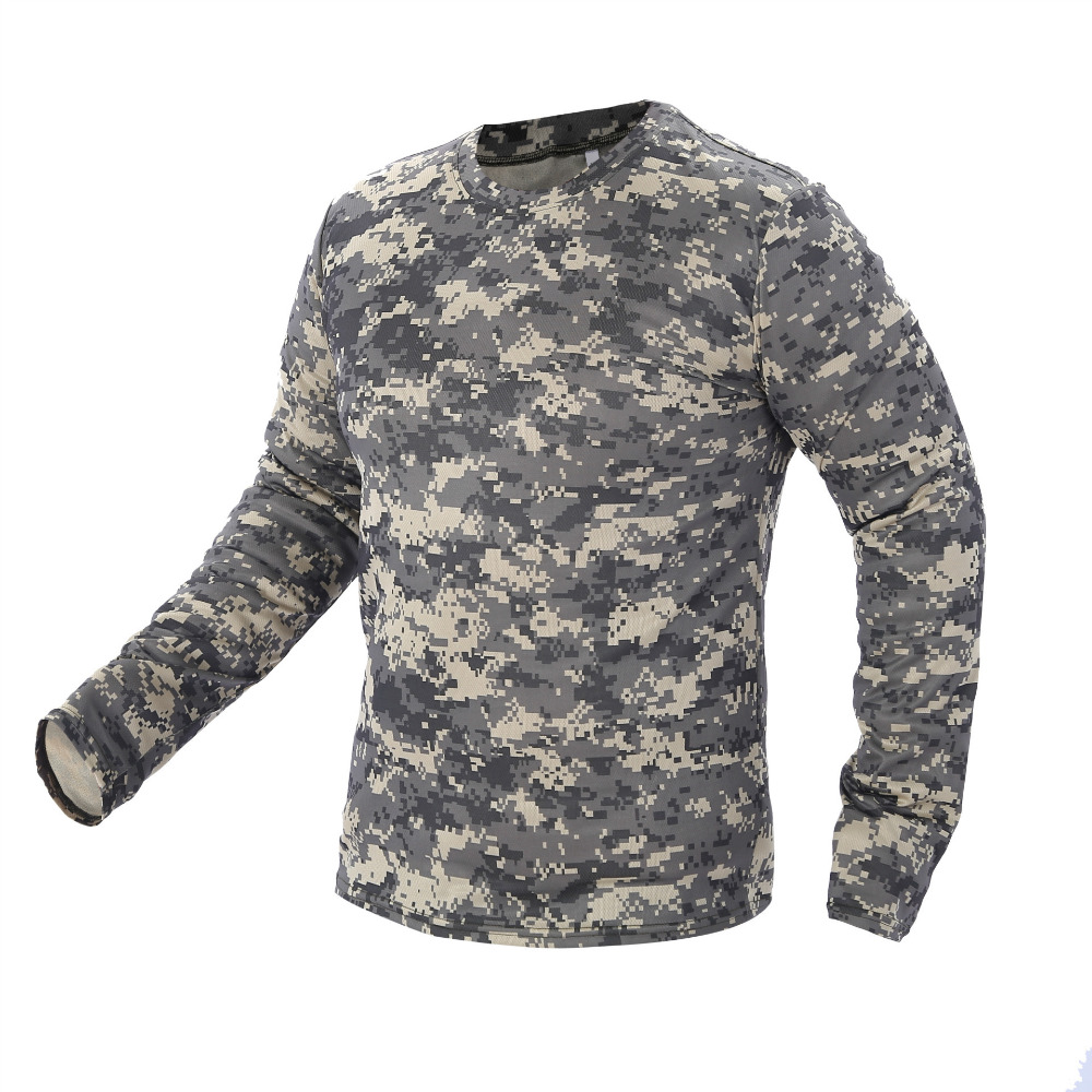 2018 New Tactical Military Camouflage T Shirt Male Breathable Quick Dry US Army Combat Full Sleeve Outwear T-shirt for Men jung kook bts persona