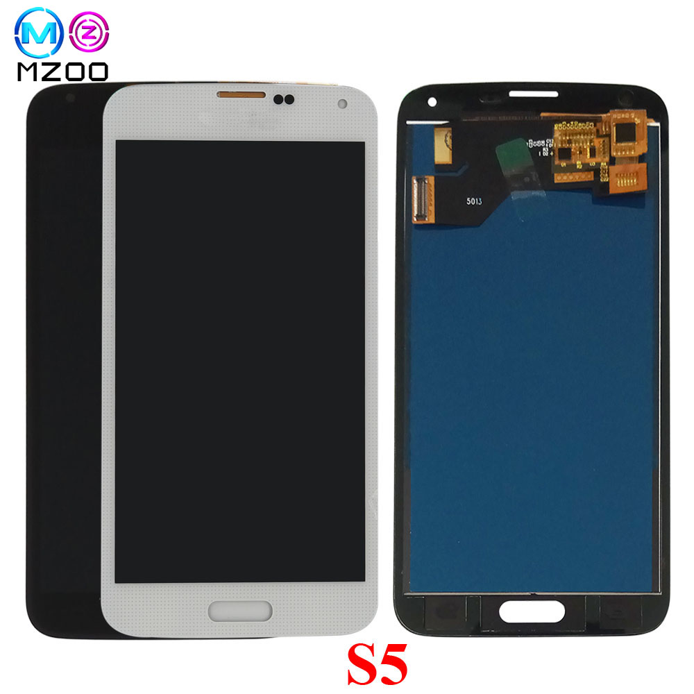 LCD Screen For Samsung S5 I9600 <font><b>SM</b></font>-G900 G900A <font><b>G900F</b></font> G900P G900T LCD <font><b>Display</b></font> Touch Screen Panel Digitizer Assembly Replace Parts image
