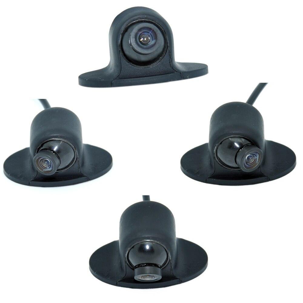 Mini CCD HD Visión Nocturna 360 grados vista trasera de coche cámara frontal Vista frontal cámara de marcha atrás de respaldo WF