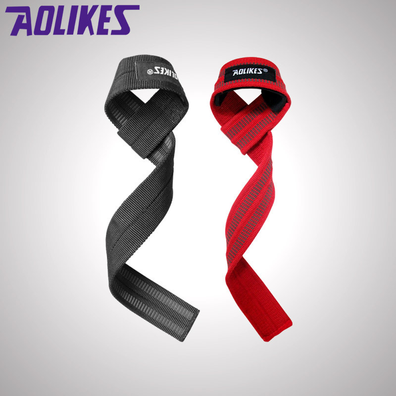 1 Pair Men Weightlifting Hand Belt Anti-slip Sport Fitness Wrist Wraps Straps Gym Support Lifting Grip Belt Fitness Bodybuilding