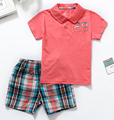 summer new 2016 brand clothing sets  baby wear boys newborn baby boy clothes clothing set kids t-shirt+shorts suit 2T-5T