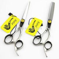 2015 New Yang pipe Scissors Barber scissors Hair Scissor Set Salon Scissors Set Hairdressing Tools Free Shipping
