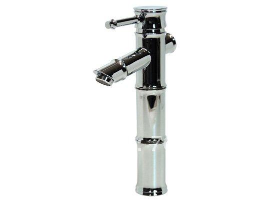 Free shipping polished chrome brass Bamboo Bathroom Sink Faucet mixer tap free shipping polished chrome solid brass material bathroom sink waterfall square faucet