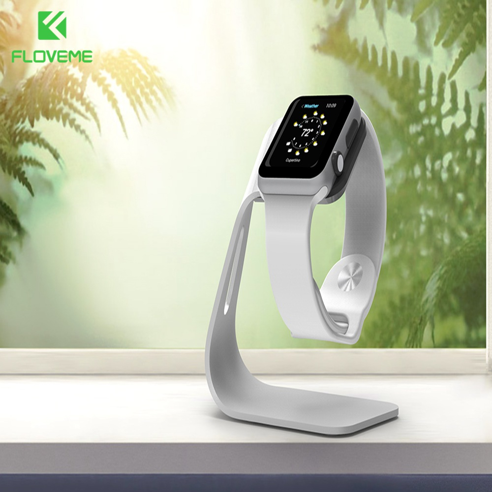 FLOVEME Metal Aluminum Charger Holder For Apple Watch Bracket Charging Cradle Stand For Apple Watch 2 3 Smart Watch Holder Stand