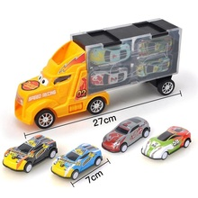 лучшая цена Diecasts & Toy Vehicles Toy Car container truck storage box 4 sliding small alloy car model Children's toys Birthday gift