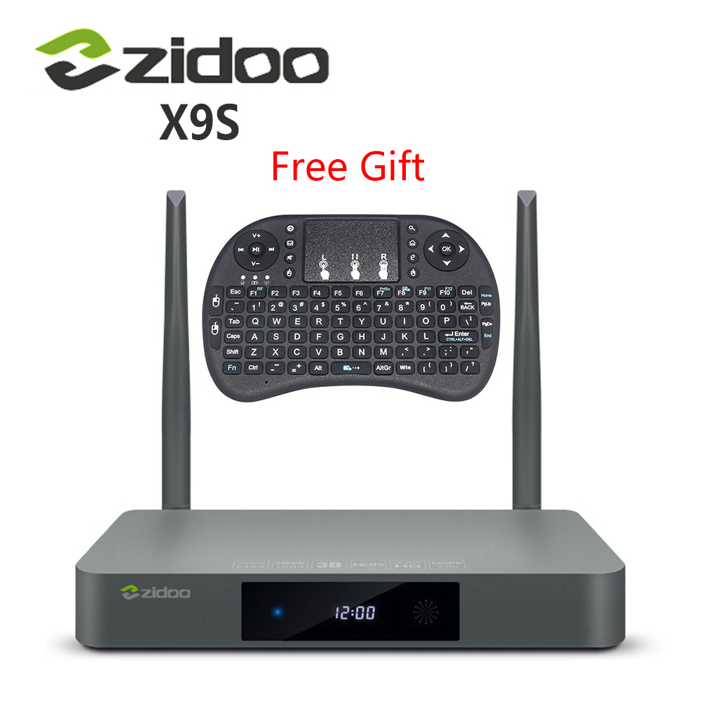 Original zidoo x9s tv box android 6.0 + openwrt (nas) realtek rtd1295 2g/16g set