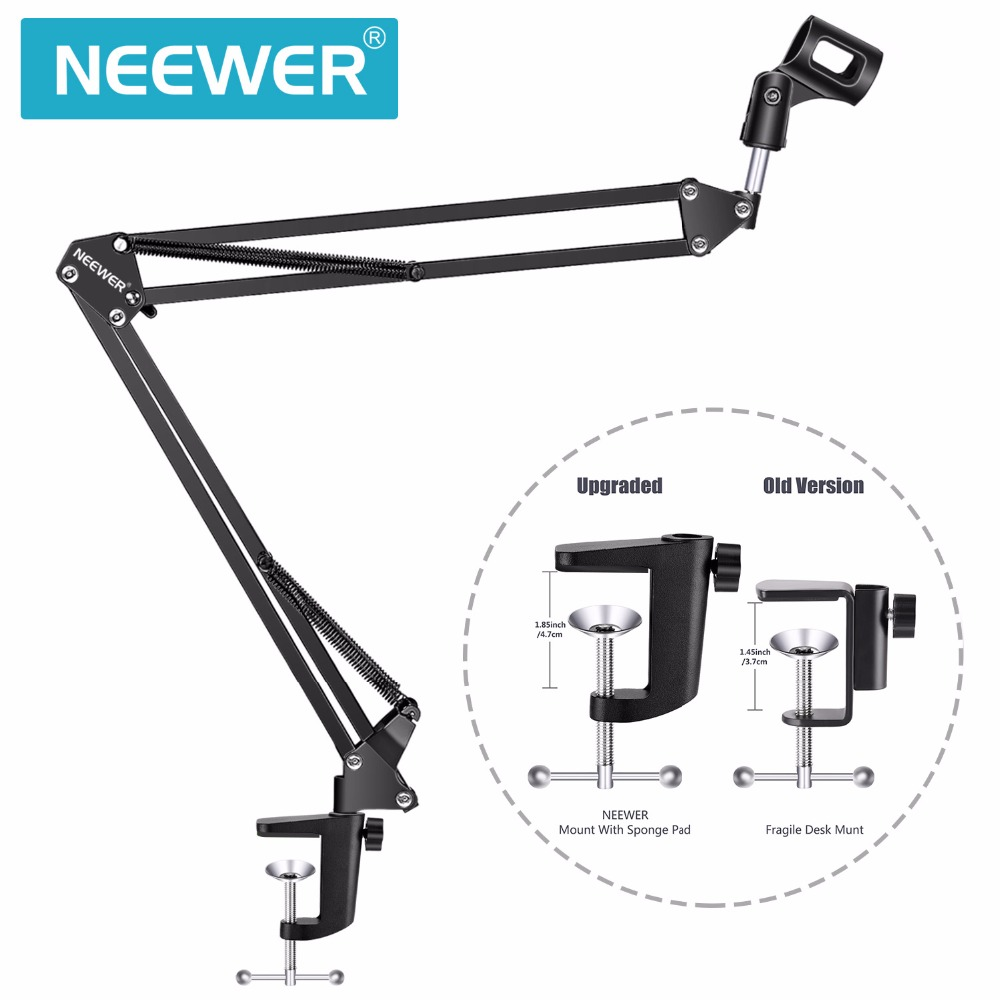 Neewer NB-35 Broadcasting Studio Microphone Mic Stand Boom Scissor Suspension Arm Mount Shock For Mounting On PC Laptop Notebook