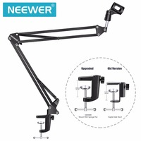 Neewer Broadcasting Studio Microphone Mic Stand Boom Scissor Suspension Arm Mount Shock Free Shipping