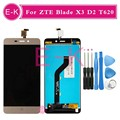 High quality For ZTE Blade X3 D2 T620 A452 LCD Display + Touch Screen Digitizer Assembly Replacement + Tools Free Shipping