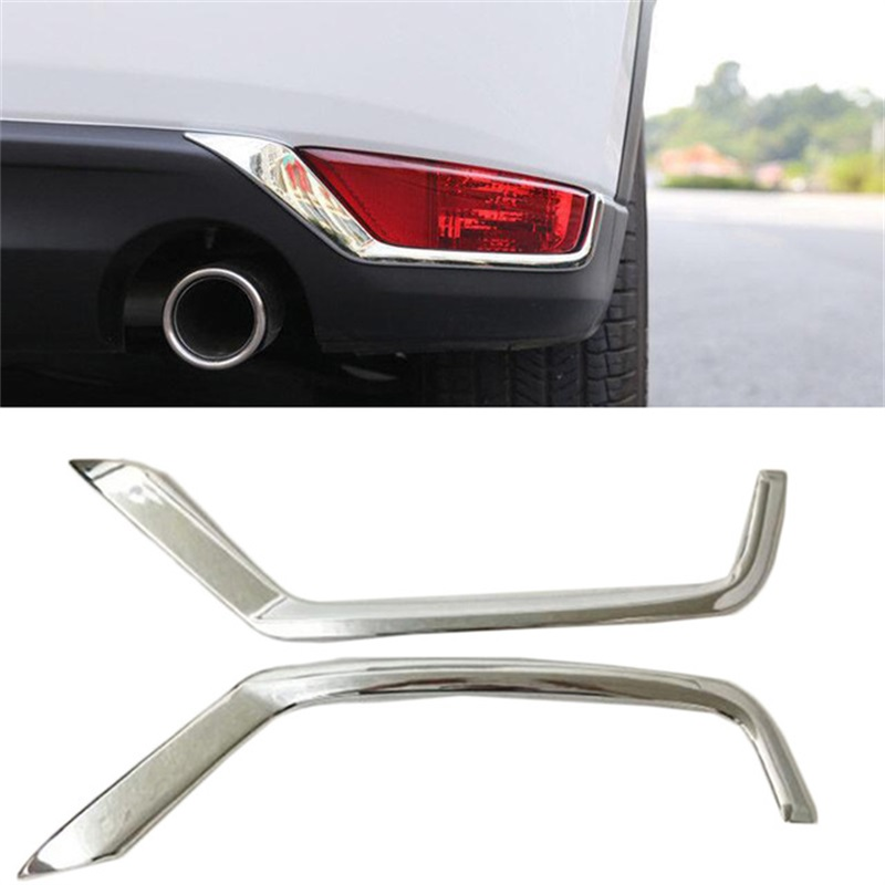 ABS Chrome Rear Fog Light Lamp Eyelind Decoration Cover Trim For <font><b>Mazda</b></font> CX-5 <font><b>CX5</b></font> CX 5 2017 2018 <font><b>2019</b></font> Car Styling <font><b>Accessories</b></font> image