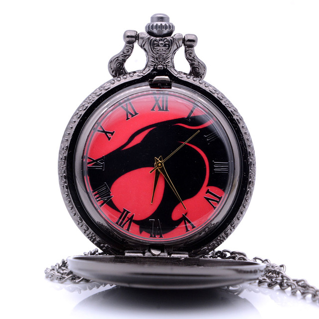 Vintage Bronze/Black Sci-Fi Movie Color Dial Quartz Pocket Watch Analog Pendant