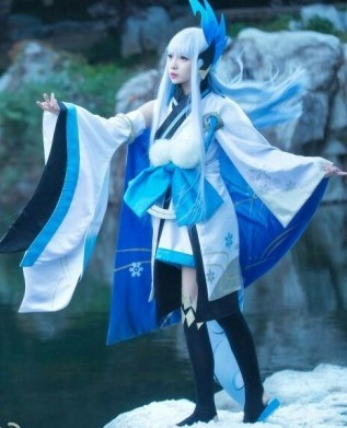 Onmyoji Yukionna Wake Up Before Cosplay Costume In Anime Costumes