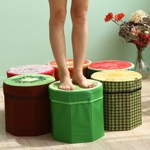 Kreative Obst Folding Lagerung Organizer Ottomane Hocker Hocker Sitz Lagerung Box Größe Kleine Lagerung box Organizer