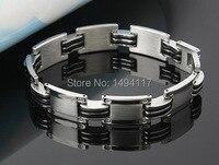 Fishion jóias-h estilo individualidade pulseira 316l titanium aço/pulseira de silicone para os homens presentes do festival de rua as pessoas favorito