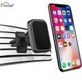 Автомобильный держатель для телефона Fimilef Магнитная подставка для мобильного смартфона с креплением на вентиляционное отверстие магнитна...