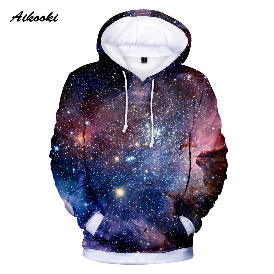 2019 Twelve Designs Space Galaxy 3D Hoodies Men/Women 3d Hooded Sweatshirts Print Purple Nebula Clouds Cool Autumn Winter Hoodie