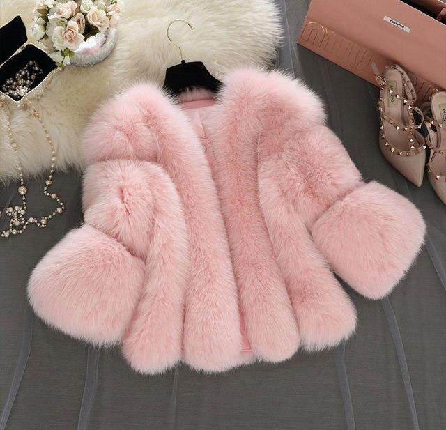 Uwback faux chaleco de piel 2017 nuevo invierno de color rosa/negro faux fur coat chaleco más el tamaño 4xl blanco/gris peludo gruesas chaquetas tb1283