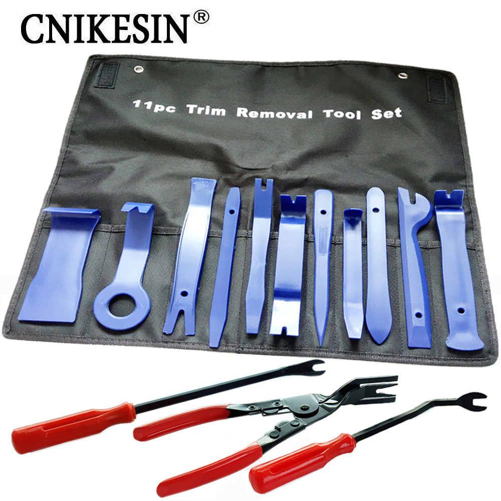 CNIKESIN Car Repair Tool Removal Vehicle Trim Car Door Window Molding Dash Panel Rivet Clip Tool Kit Clip Plier Fastener Remover