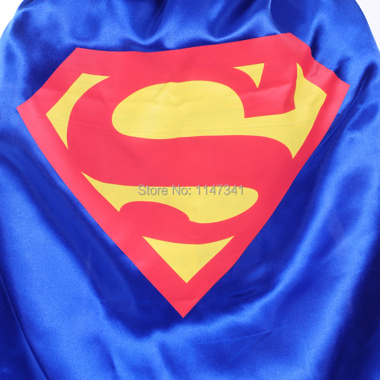 50cm Single Layer Blue Color Superman Cape For Children Christmas Holiday Birthday Party And Club Dancing In Scarves From Mother Kids On