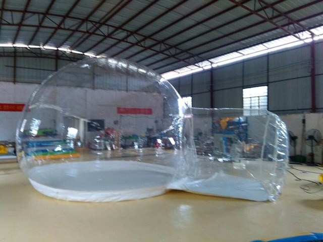 Transparent Inflatable Bubble Tent / Giant Inflatable Bubble Globe Tent/Outdoor C&ing Single Tunnel Inflatable & Transparent Inflatable Bubble Tent / Giant Inflatable Bubble Globe ...