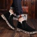 2016 zapatos de invierno de los hombres, botas altas, botas altas para ayudar a restaurar el alto estado onda retro de terciopelo cálido zapatos SUB2578
