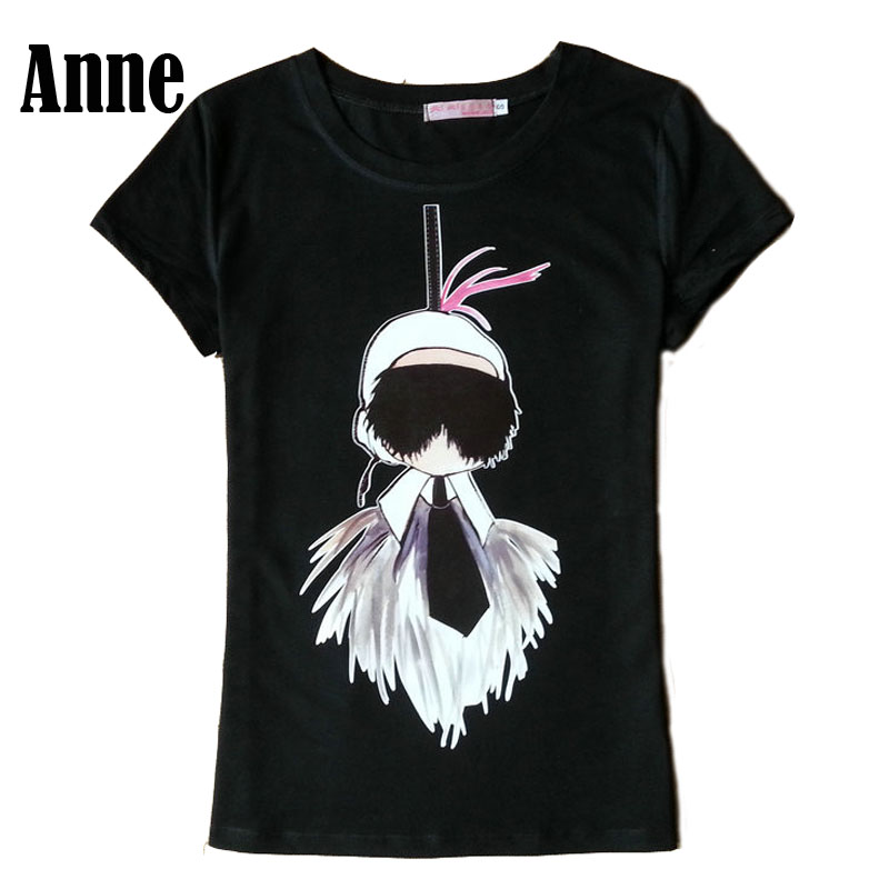 anne poleras de mujer moda new t shirt women lafayette feather print pattern t shirt tee top. Black Bedroom Furniture Sets. Home Design Ideas