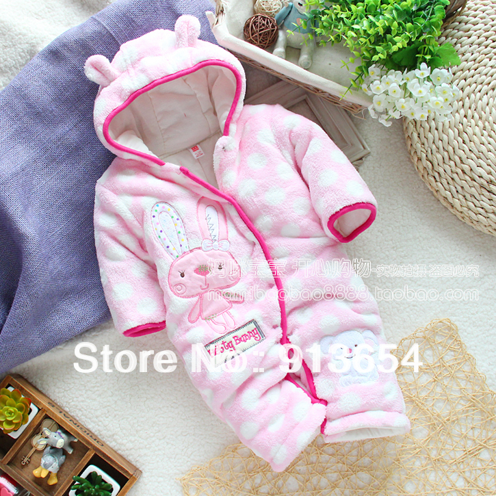 Free shipping Retail new 2016 autumn winter baby clothes overalls baby girl cotton romper kids thermal animal jumpsuit baby wear sitemap 313 xml