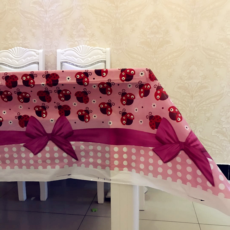 Bow Knot Kids Hy Birthday Party Supplies Disposable Tablecloths Baby Shower Christmas Plastic Table Decoration Ideas