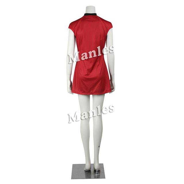 Star Trek Cosplay Costume Nyota Uhura Cosplay Clothing Women Sexy Red Dress Uniform for Halloween Christmas Party Custom Made 2