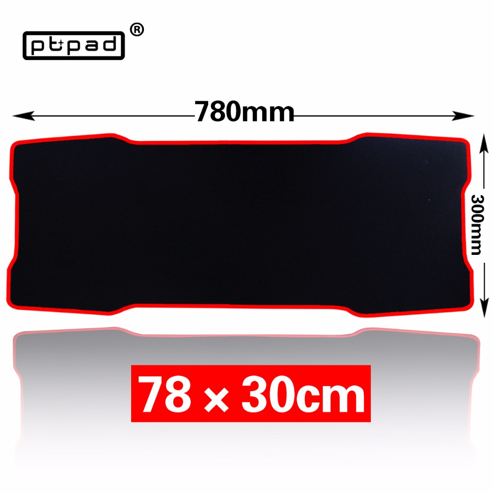 pbpad Large Gaming black mouse pad 780*300mm Plain Extended Anti-slip Natural Rubber mousepad Desk Mat Mouse Mat Keyboard Mat babaite super large size optional mouse pad natural rubber material waterproof desk mat for 400x900x2mm