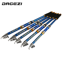 DAGEZI High Performance Sea Fishing Pole High Quality Carbon Fiber Telescopic Fishing Rod 2.1/2.4/2.7/3.0/3.6m  pesca