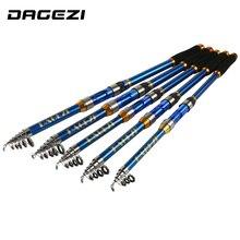 Dagezi высокая производительность море Рыбалка полюс Высокое качество углерода Волокно телескопическая Рыбалка стержень 2.1/2.4/2.7/3.0/ 3.6 м PESCA