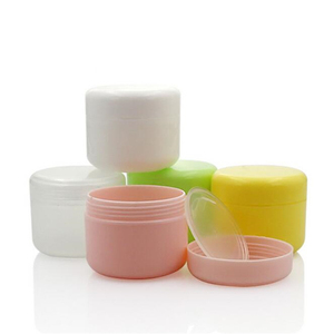 Image 2 - 10PCS Refillable Bottles Plastic Empty Makeup Jar Pot Travel Face Cream/Lotion/Cosmetic Container 5 Colors
