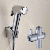 Bathroom Toilet Hand held Diaper Sprayer Shower Bidet Spray Shattaf Hose Holder 02 034