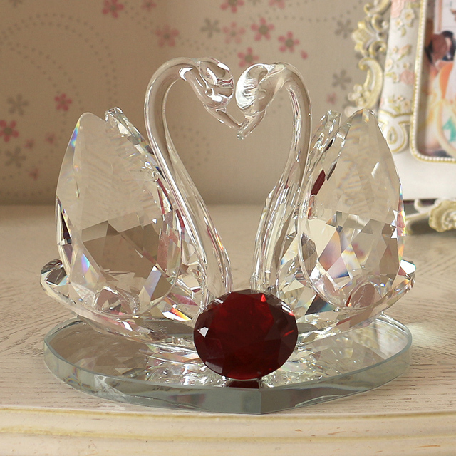 cristal cisne saln tv despacho de casa decoracin da de san valentn regalo ideas regalo de