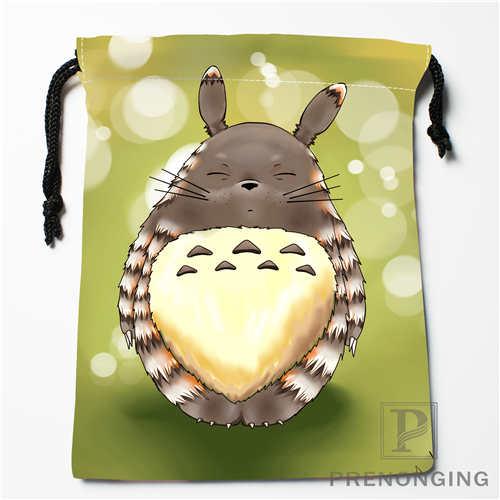 Custom Totoro Drawstring Bags Printing Fashion Travel Storage Mini Pouch Swim Hiking Toy Bag Size 18x22cm #171208-16