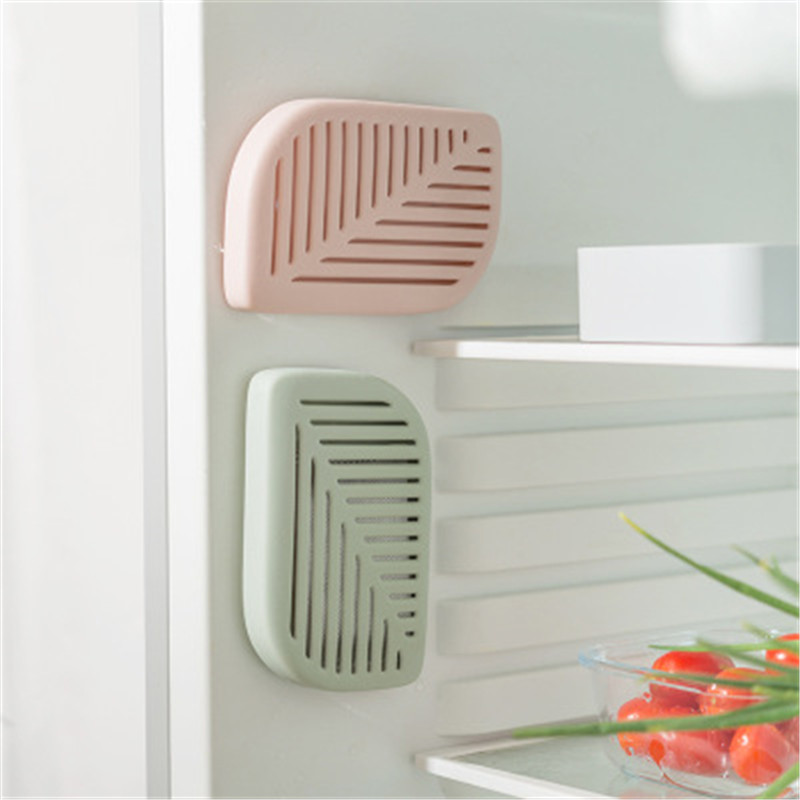 Purifier Charcoal Deodorizer Green Leaf Shape Fridge Refrigerator Air Fresh Box Absorber Freshener Odors Smell Collect Kitchen