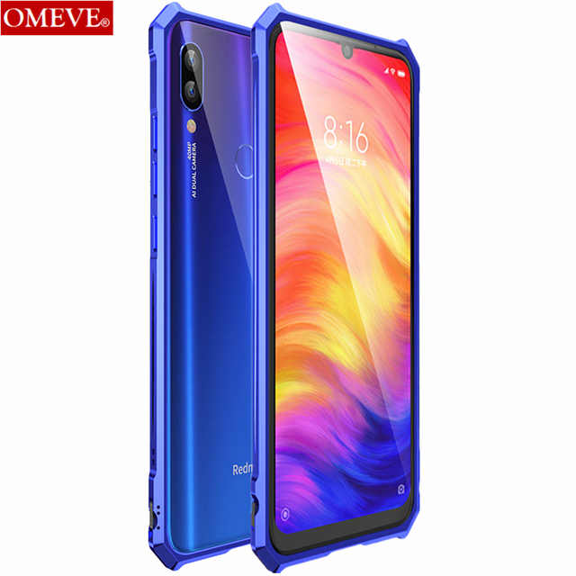 OMEVE for Xiaomi Redmi Note 7 Bumper Case Redmi Note7 Pro Aluminum Alloy Metal Frame Bumper Cover for Redmi Note 7 Pro 6.3 inch