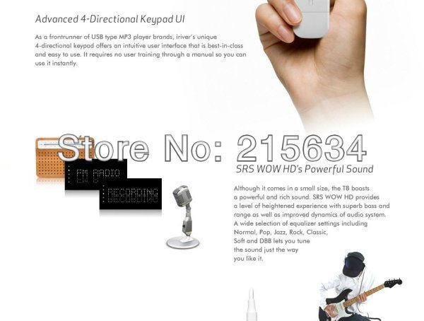 Free UPS Drop Shipping- 15pcs lot USB Port Iriver Candy Bar Style T8 Mp3 Player OLED Screen FM Digital Audio Music Media Player