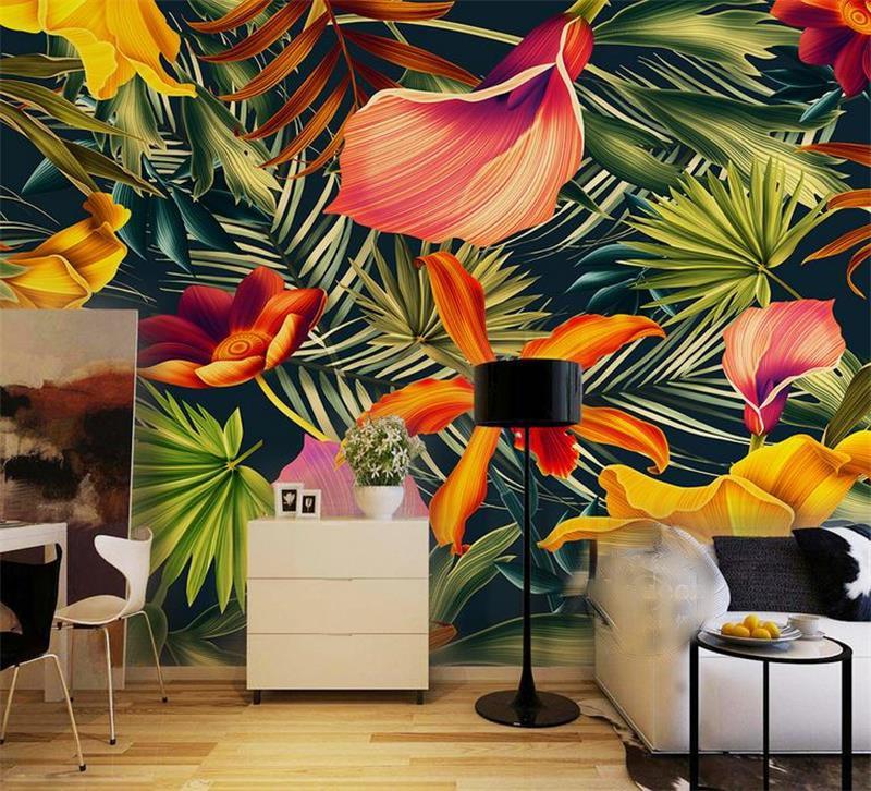 Custom 3d photo wallpaper 3d wall murals wallpaper Tropical