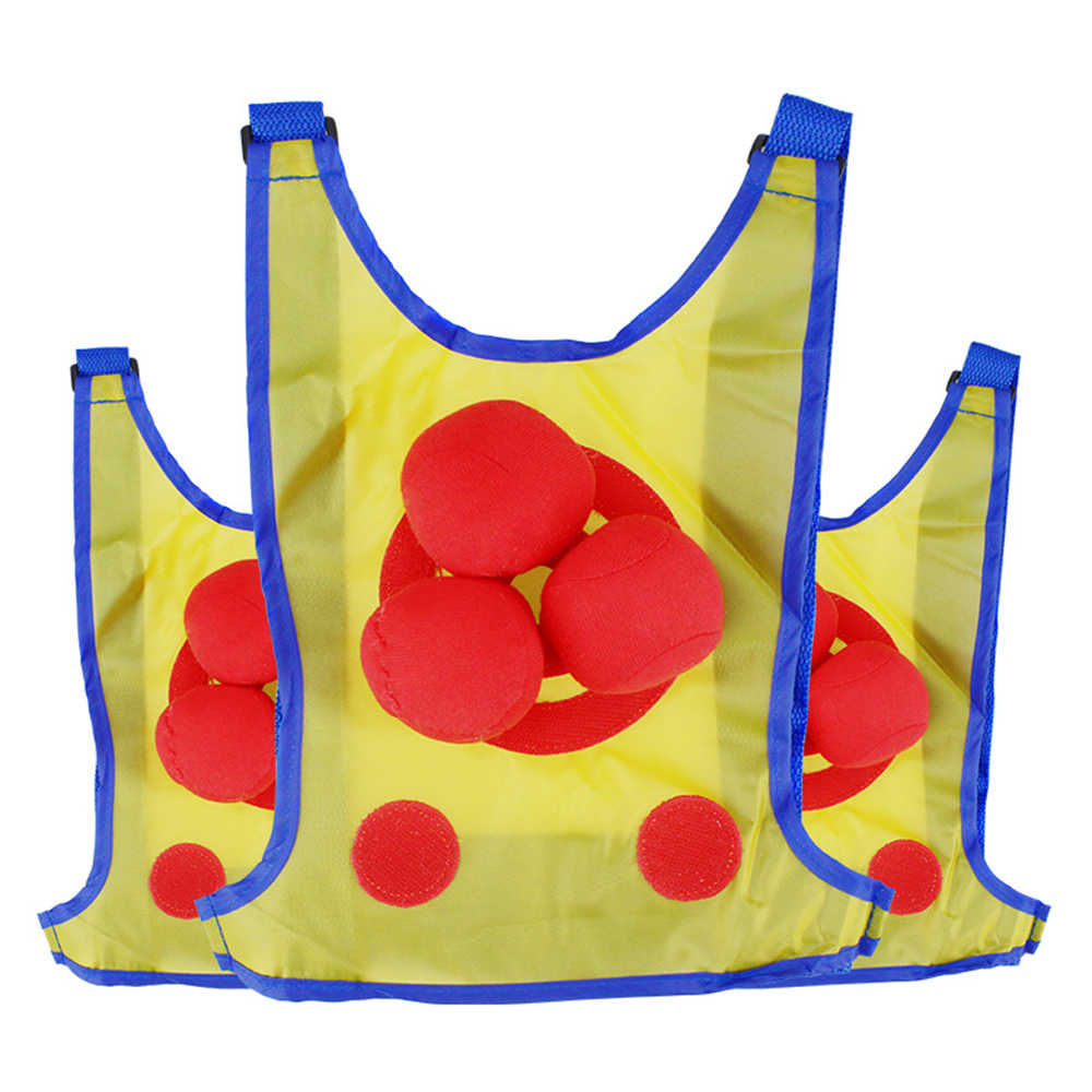 Superb Parent Child Target Vest 3 Handballs Set Interactive Beanbag Dodgeball Clothes Play Fun Throwing Educational Toy Pdpeps Interior Chair Design Pdpepsorg