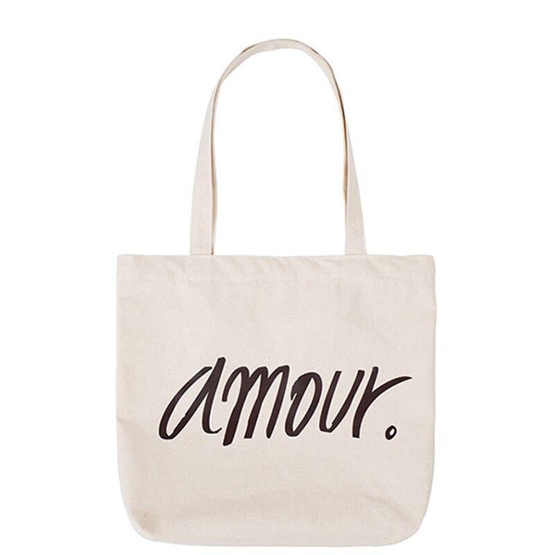 100% Vero Donne Casual Borse Borse A Spalla Ambiente Amichevole Portatile Modello Della Lettera Studente Borse Per Lo Shopping Bag